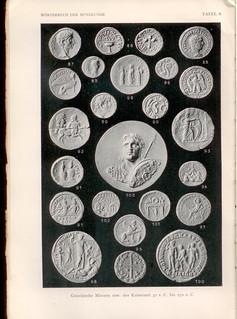 1930 German numismatic dictionary Worterbuch der Munzkunde plate of plaster casts2