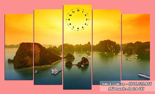 AmiA 441 - Tranh phong cảnh đẹp quê hương ở Việt Nam Vịnh Hạ Long