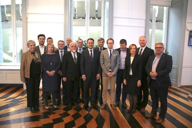 21 maart 2018 - Ontvangst Eerste Minister Xavier Bettel Groothertogdom Luxemburg