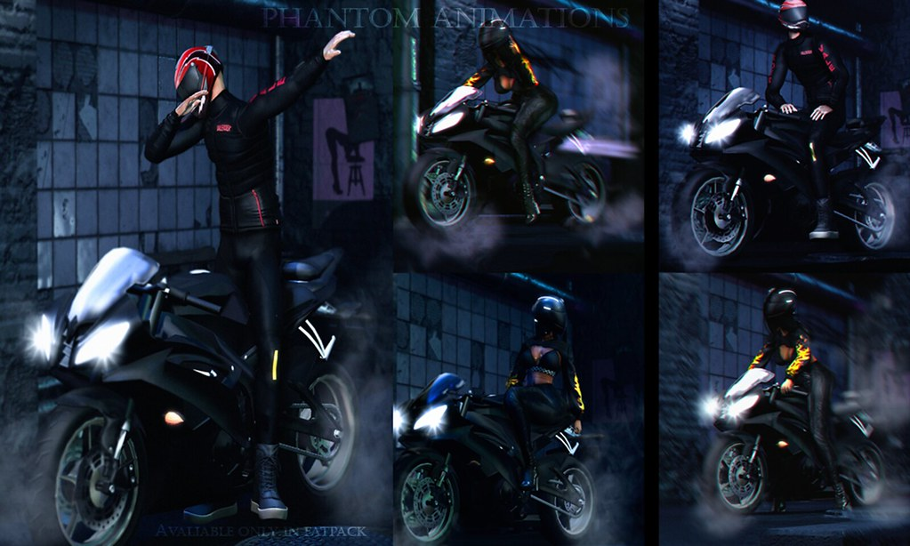 [Phantom Animations] – Sport Biker Style Series Unisex Poses
