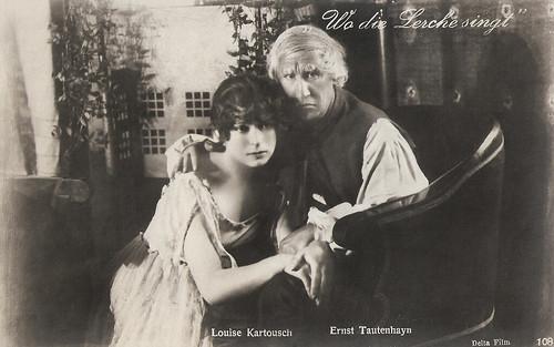 Louise Kartousch and Ernst Tautenhayn in Wo die Lerche singt (1918)