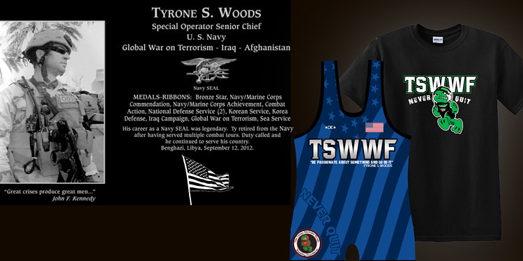 Tyrone S Woods Wrestling Foundation Gear
