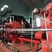 Working mine shaft lifting gear engine
