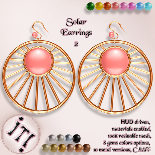 !IT! - Solar Earrings 2 Image - TeleportHub.com Live!