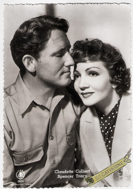 Claudette Colbert and Spencer Tracy in Boom Town (1940)