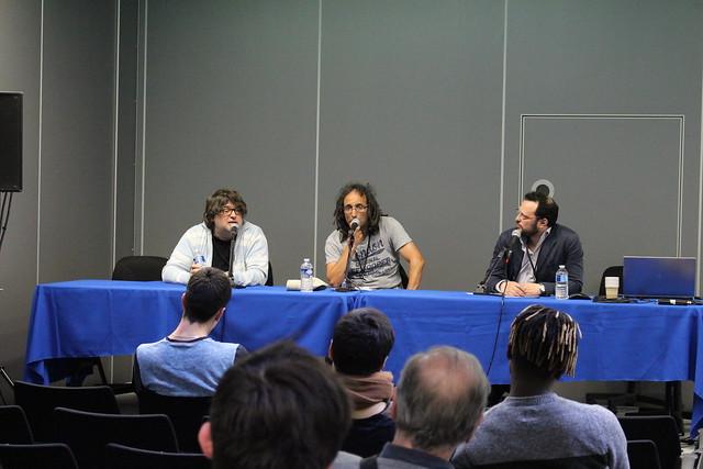 Vincent Duluc et Chérif Ghemmour ont parlé journalisme sportif. Photo : Thomas Cuny
