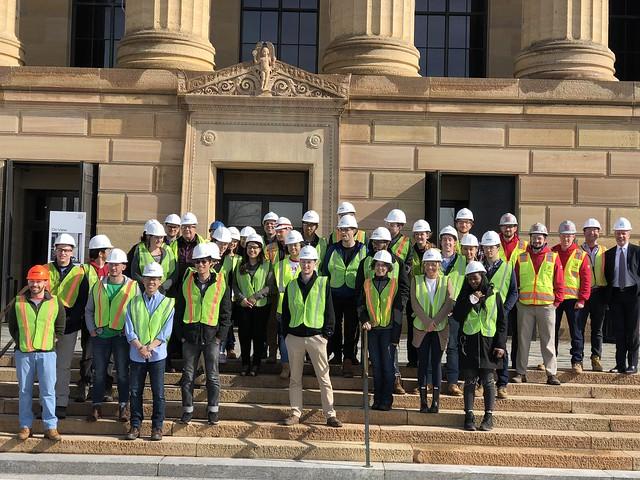 Hard Hat Tour of Philadelphia Art Museum Core Project