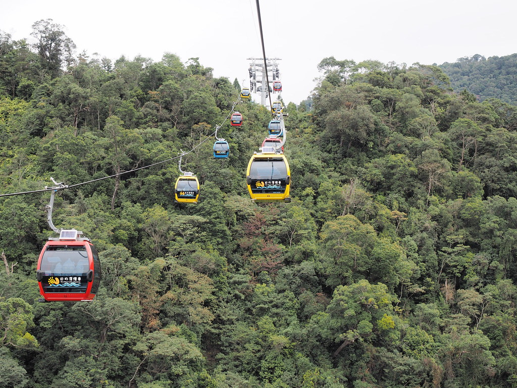 The cable cars of Sun Moon Lake (日月潭) Ropeway