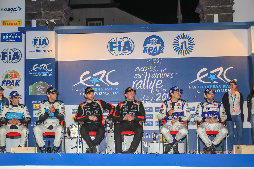 02 LUKYANUK Alexey (rus), ARNAUTOV Alexey (rus), RUSSIAN PERFORMANCE press conference during the 2018 European Rally Championship ERC Azores rally,  from March 22 to 24, at Ponta Delgada Portugal - Photo Jorge Cunha / DPPI