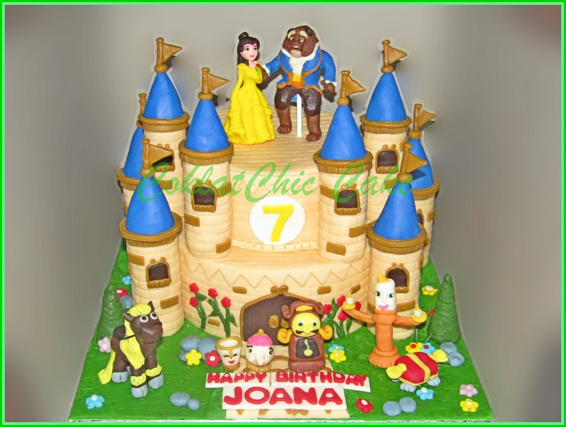 Cake Beauty and The Beast Joana 20 dan 15 cm