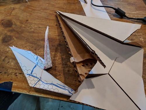 Cardboard origami fail
