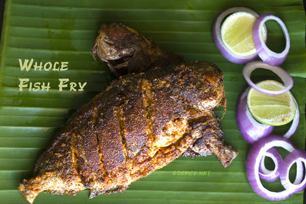 Whole Fish Fry Recipe by GoSpicy.net