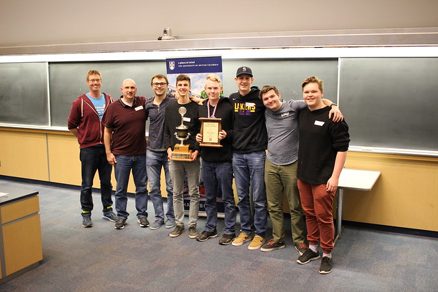 2018 UBC Physics Olympics Top Teams