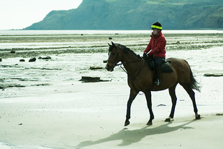 20170331-20_Horse Rider on the Sands - Boggle Hole