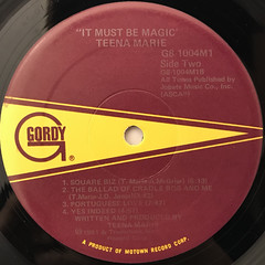 TEENA MARIE:IT MUST BE MAGIC(LABEL SIDE-B)