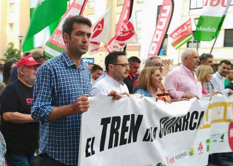 AxSí tren Algeciras Bellido cabecera manifestación  por  el tren andaluz b3