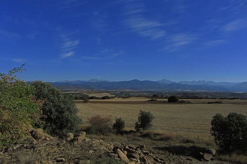 20121001 33 246 Jakobus Pyrenäen Berge Bäume Felder