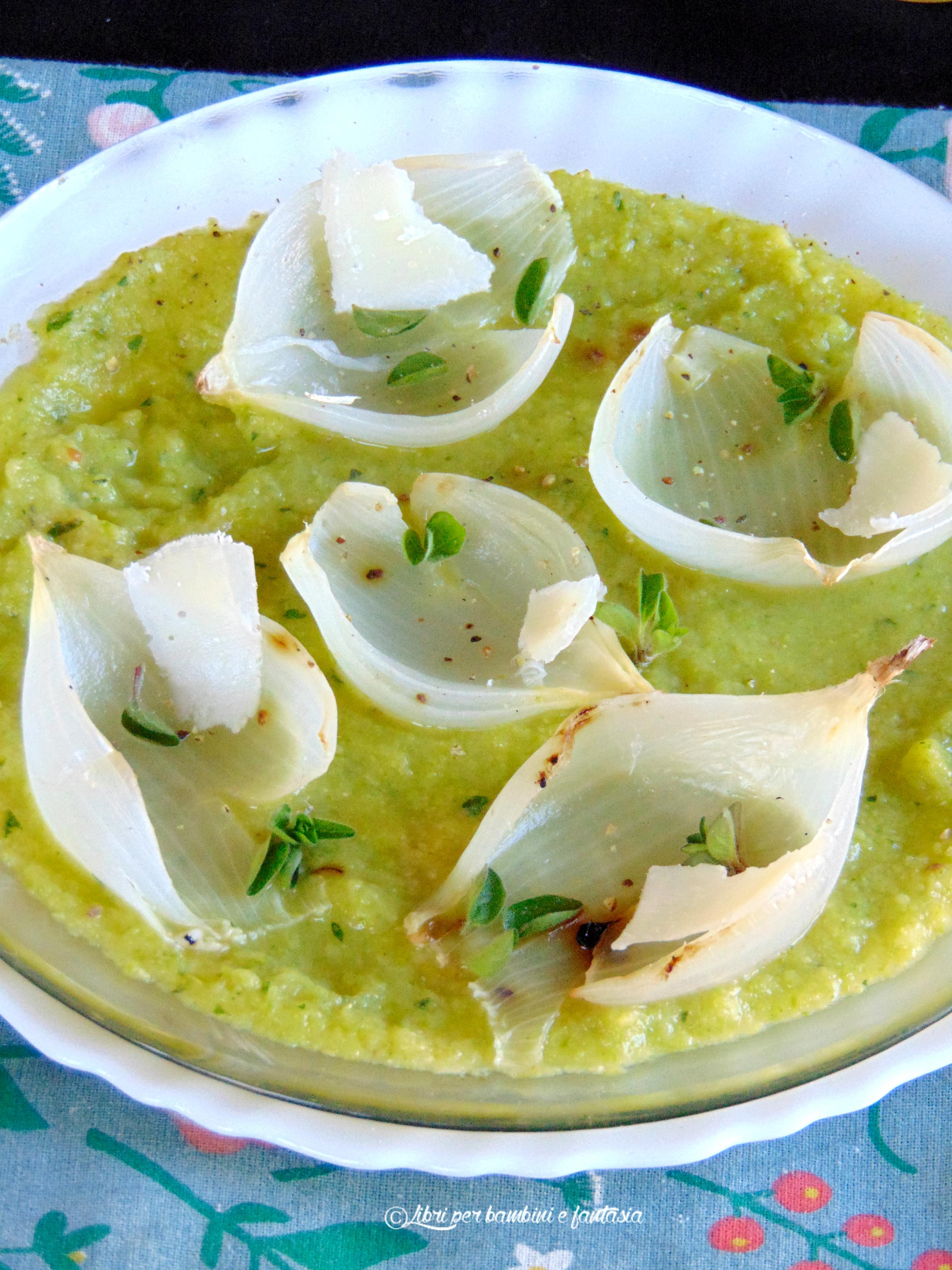 crema di zucchine con cipolle al forno e grana 8
