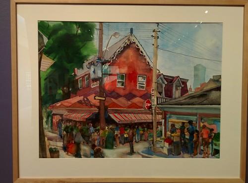 Nassau Street, Looking Southeast Across Augusta #toronto #tdgallery #williamsherman #kensingtonmarket #nassaustreet #augustaave #painting #torontorevealed #torontoreferencelibrary #latergram