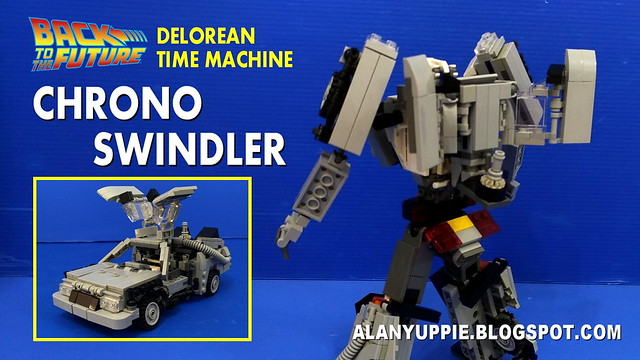 LEGO Transformer Delorean Time Machine from Back to the Future