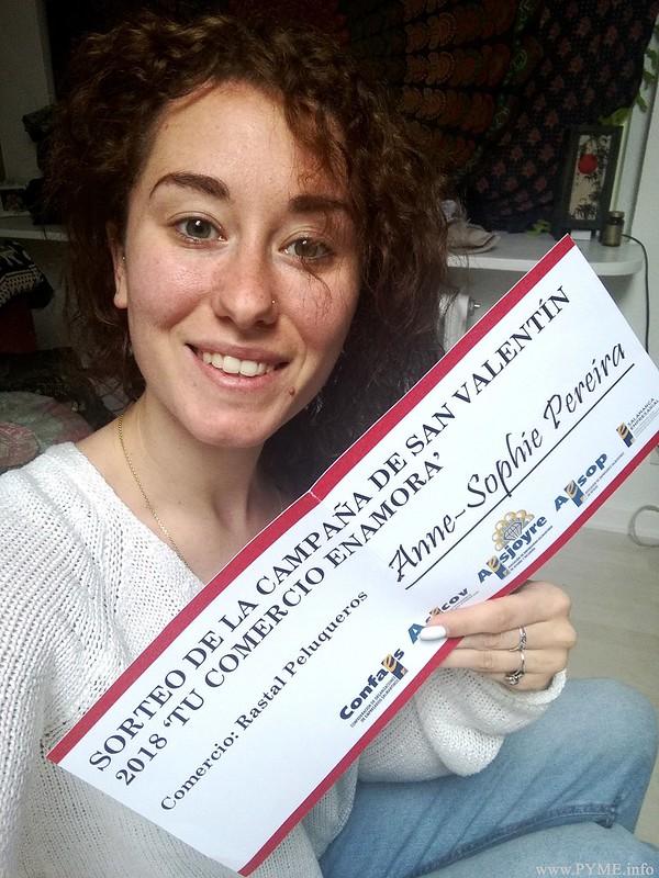 Anne-Sophie Pereira ha sido la segunda ganadora de la campaña de San Valentín de las asociaciones de CONFAES.