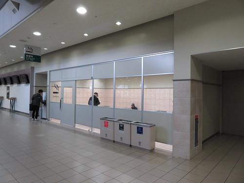 福島競馬場スタンド2階の喫煙所