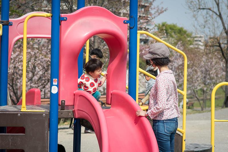 汐入公園の子ども向け遊具
