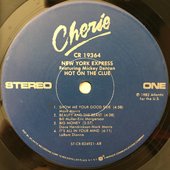 NEW YORK EXPRESS:HOT ON THE CLUE(LABEL SIDE-A)
