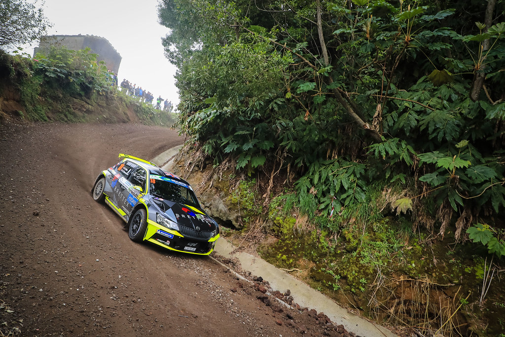 18 YATES Rhys ( gbr),                         SKODA FABIA R5, action during the 2018 European Rally Championship ERC Azores rally,  from March 22 to 24, at Ponta Delgada Portugal - Photo Jorge Cunha / DPPI