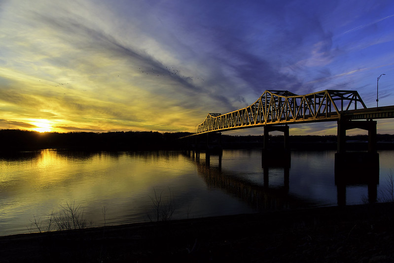 Mighty Mississippi Sunset