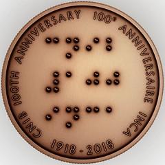 CNIB Bronze Medallion Obverse