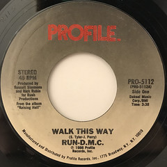 RUN DMC:WALK THIS WAY(LABEL SIDE-A)