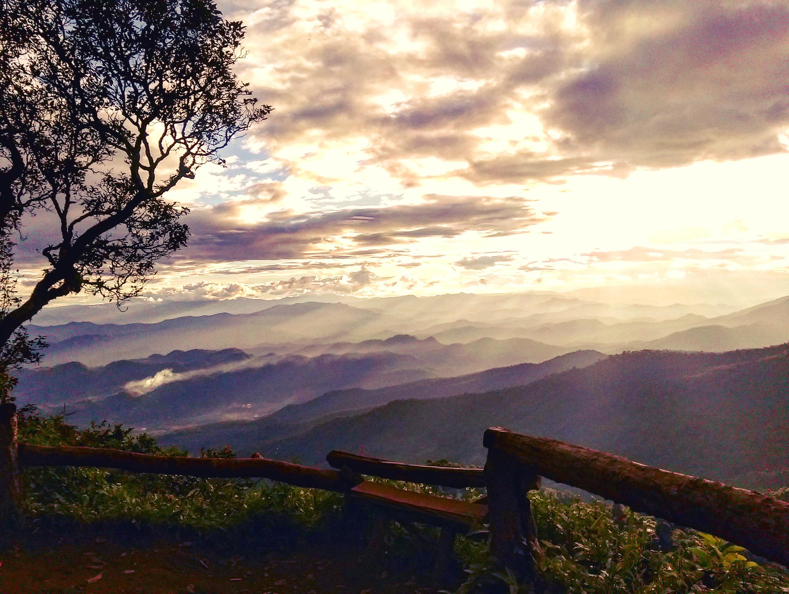 sunset doi pui viewpoint chiang mai