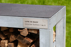 Louise Cohen LIFE IS EASY outside sign