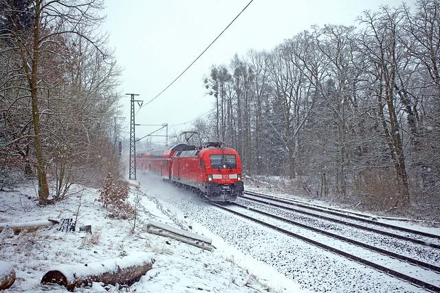 DB 182 003 + RE 3175 Brandenburg Hbf - Frankfurt (Oder)  - Berlin Kohlhasenbrück