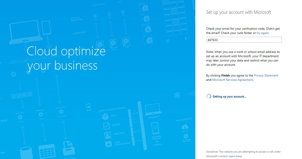 Microsoft Teams Gastzugang (8): Code im Browser eingeben