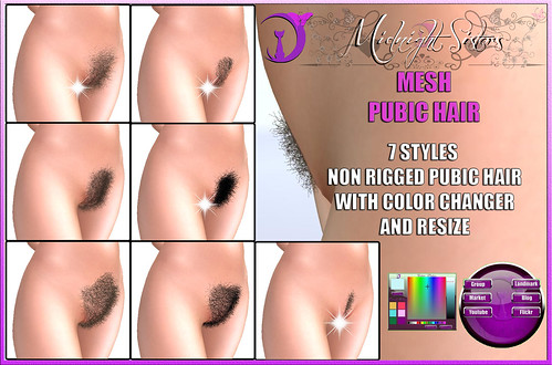 Midnight Sisters – Mesh Pubic Hair – ~:Midnight Sisters:~