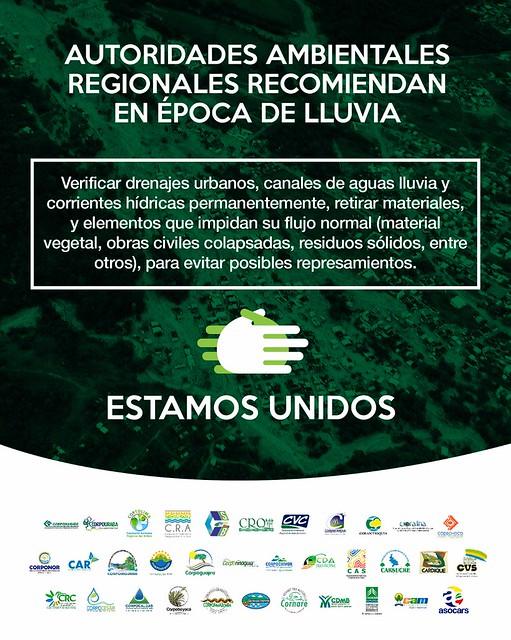 Corporaciones Autónomas preparadas para temporada de lluvias