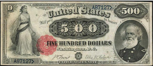 1880 $500 Legal Tender note front