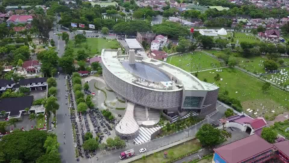 Museum Tsunami Aceh (Drone, POI Angle)