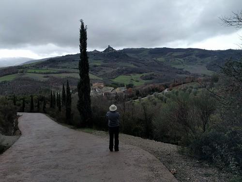 Walking to Bagno Vignoni, Tuscany, Italy