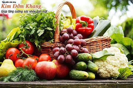 Người bị sỏi mật nên ăn nhiều rau xanh, hoa quả tươi