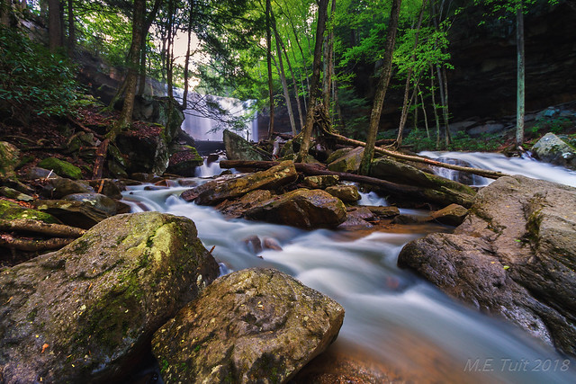 Incoming stream @ Ohiopyle state park