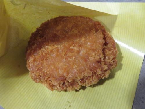 福島競馬場の肉の上杉のハムカツ