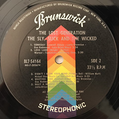 THE LOST GENERATION:THE SLY, SLICK AND THE WICKED(LABEL SIDE-B)
