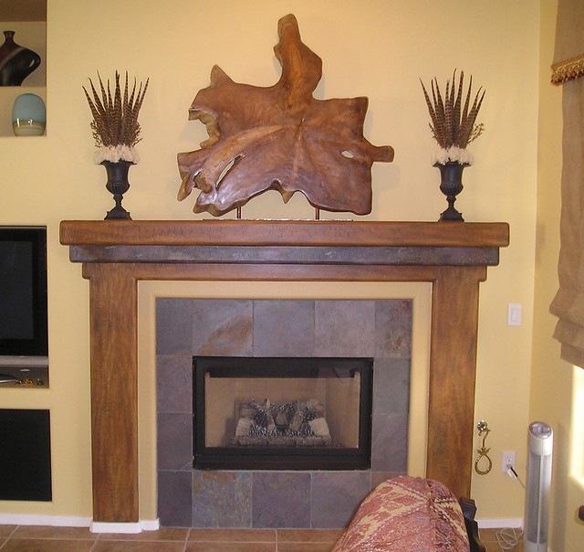 Faux Wood And Stone Fireplace Flickr Photo Sharing