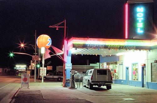 neon nevada union gasstation ely us50 76 loneliestroadinamerica