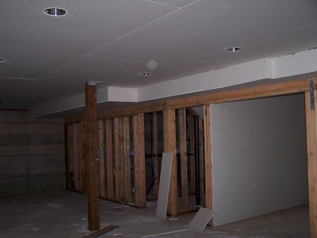 Basement Ceiling Drywall Hung