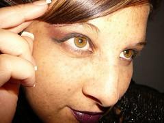 hand, nose, freckle, face, brown, skin, lip, head, eyelash, cheek, brown hair, close-up, blond, mouth, eyebrow, forehead, beauty, eye, organ,