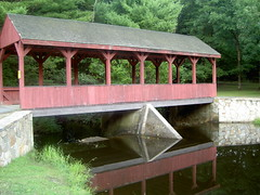 Covered Bridge at Stratton Brook State Park